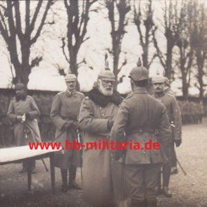 Foto König Ludwig III von Bayern, EK Verleihung an der Westfront 1914/18-0