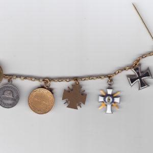 5er Frackkette Sachsen: Albrechtsorden Ritterkreuz 2. Klasse mit Schwertern-9252
