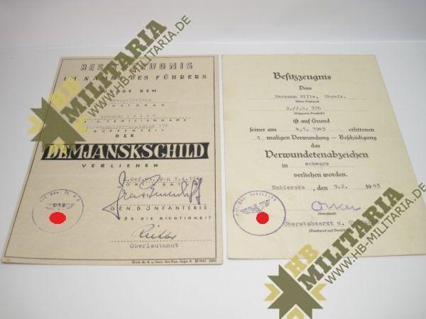 Urkunden- Nachlass Demjansk-0