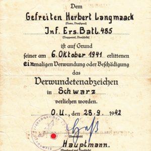 Dokumentennachlass eines Unteroffiziers im Grenadier- Regiment 485-9527