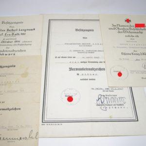 Dokumentennachlass eines Unteroffiziers im Grenadier- Regiment 485-0