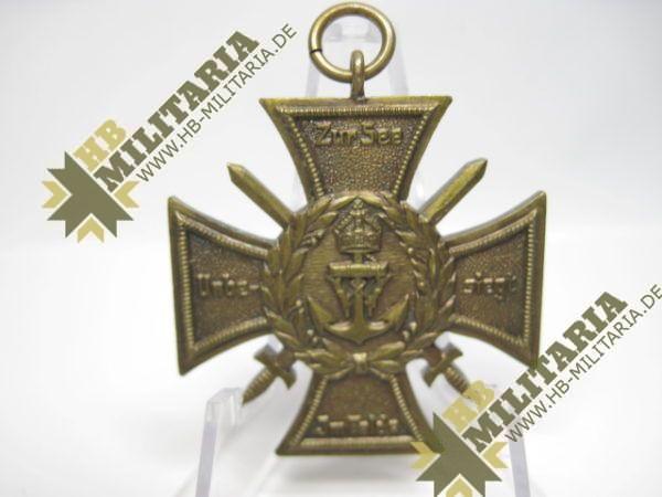 Marinekorps Flandern. Erinnerungs- Kreuz: Zur See unbesiegt. Marine Korps. 1914/18-9809