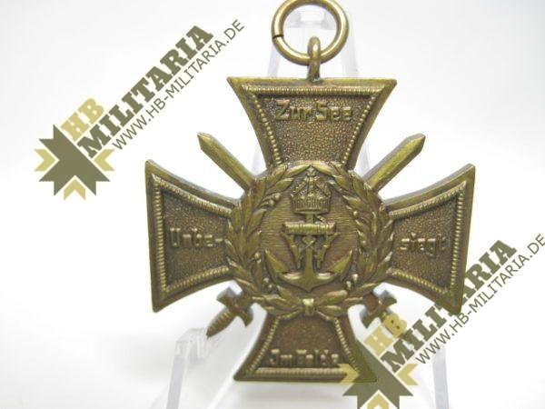 Marinekorps Flandern. Erinnerungs- Kreuz: Zur See unbesiegt. Marine Korps. 1914/18-9812