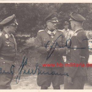 Foto Ritter von Greim und Hans Seidemann mit originaler Unterschrift-0