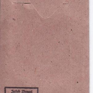 Verleihungstüte zum Kriegsverdienstkreuz zweite Klasse 1939 mit Schwertern.-10043