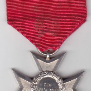 Sächsischer Hausorden vom Weißen Falken. Verdienstkreuz in Silber.-10354
