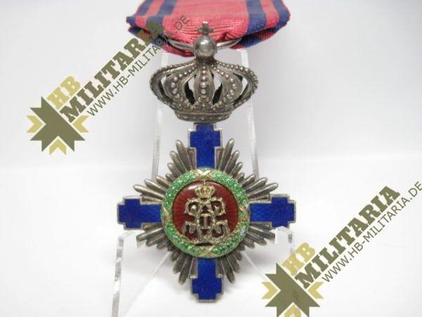 Rumänien: Orden vom Stern Rumäniens 1. Modell 1877-1932, Ritterkreuz-10445