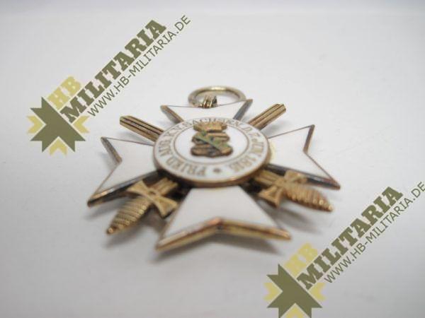 Sachsen: Zivilverdienstorden 2. Modell 1891 - 1918. Ritterkreuz 2. Klasse mit Schwertern.-10582