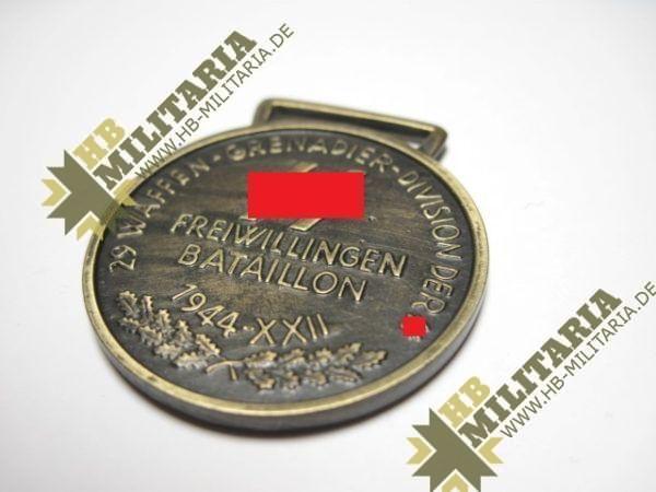Medaille 29. Waffen-Grenadier-Division der XX (italienische Nr. 1)-10882