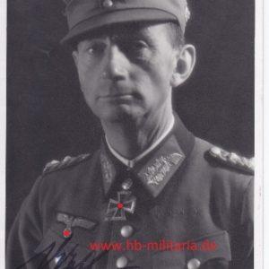 Foto Generaloberst Dietl, mit originaler Unterschrift.-0