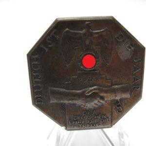 Abzeichen deutsch ist die Saar 1934-0