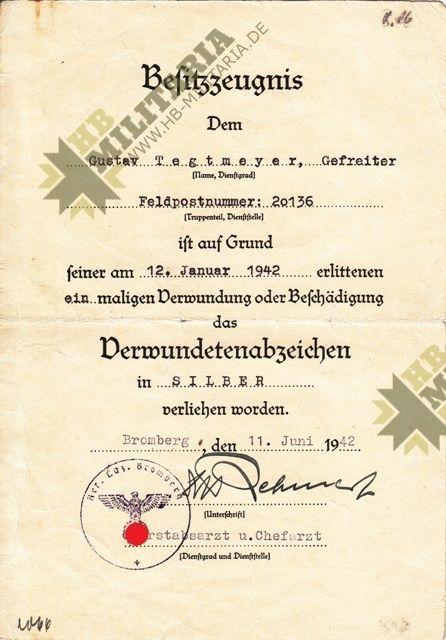 Dokumentennachlass mit Unterschrift Ritterkreuzträger General Albrecht Schubert.-11329