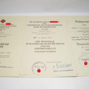 Dokumentennachlass mit Unterschrift Ritterkreuzträger General Albrecht Schubert.-0