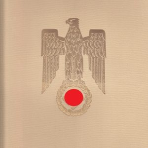 Original Tintenunterschrift Adolf Hitler für Beförderungsurkunde des Reichsbahndirektors Alfred Daus.-0