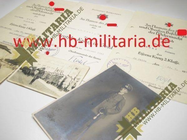Deutsches Kreuz in Gold Nachlass eines Hauptmann`s im Grenadier Rgt. 689.-11731