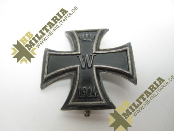 Eisernes Kreuz 1. Klasse von 1914. 800er Silberpunze.-11776