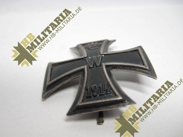Eisernes Kreuz 1. Klasse von 1914. 800er Silberpunze.-11779