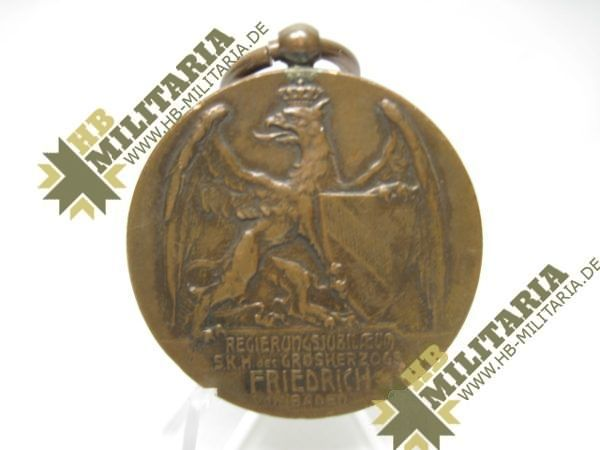 Medaille - Regierungsjubiläum Großherzog S.K.H. Friedrich v. Baden.-11887