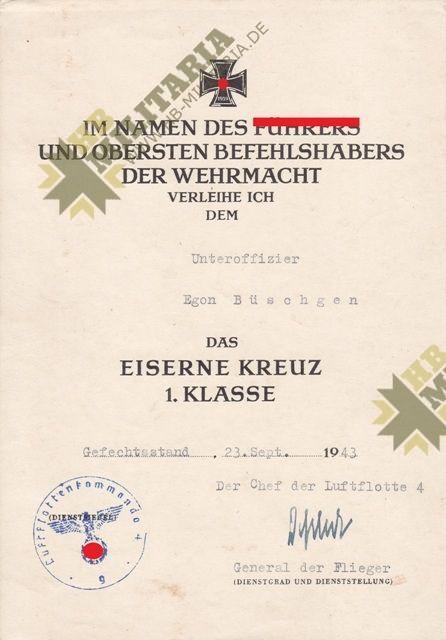 Dokumentennachlass Luftwaffe KG55. Kampfgeschwader 55-11922