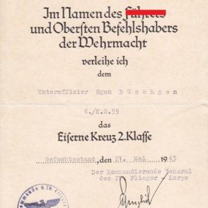 Dokumentennachlass Luftwaffe KG55. Kampfgeschwader 55-11921