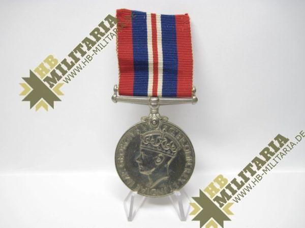 Medaille 1939- 1945 Großbritannien GeorgivsG B R OMN REX Et Indiae Emp, aus WK II 1939-1945-0