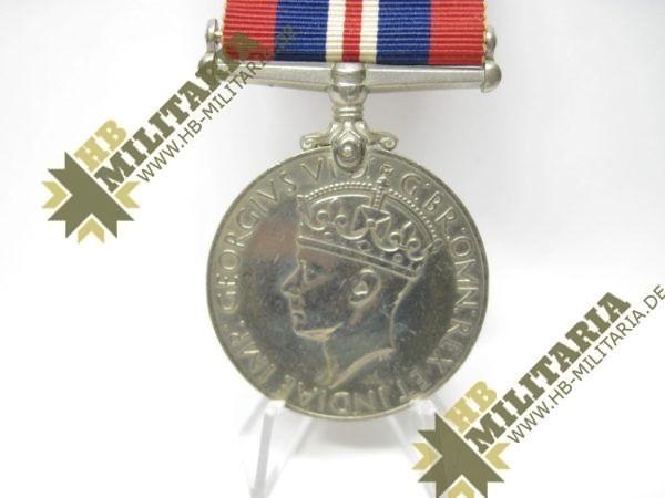 Medaille 1939- 1945 Großbritannien GeorgivsG B R OMN REX Et Indiae Emp, aus WK II 1939-1945-12108