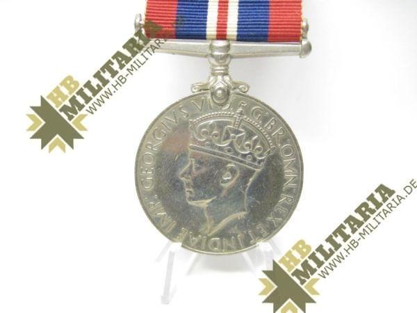 Medaille 1939- 1945 Großbritannien GeorgivsG B R OMN REX Et Indiae Emp, aus WK II 1939-1945-12106