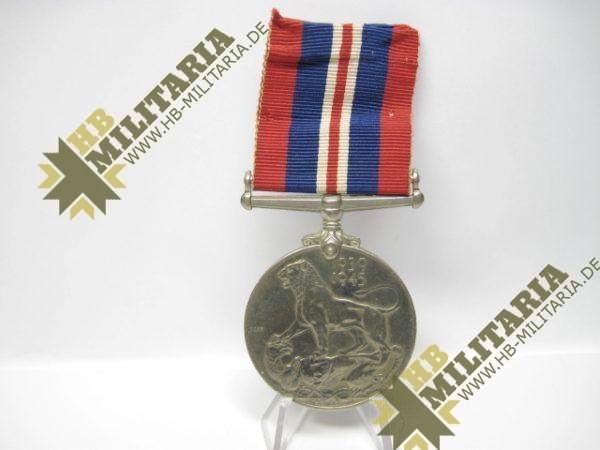 Medaille 1939- 1945 Großbritannien GeorgivsG B R OMN REX Et Indiae Emp, aus WK II 1939-1945-12105