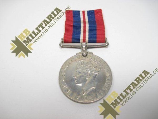 Medaille 1939- 1945 Großbritannien GeorgivsG B R OMN REX Et Indiae Emp, aus WK II 1939-1945-12109