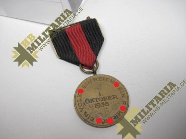 Anschlussmedaille an das Sudetenland 1. Oktober 1938-12247