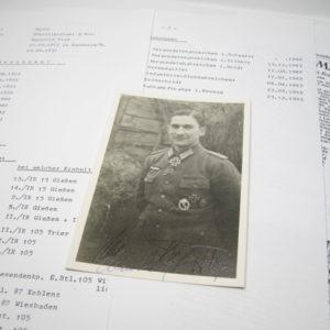 IMG 5278 300x300 - Fotopostkarte Ritterkreuzträger Heinrich Preß. Original Signatur.