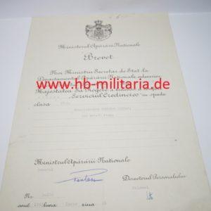 IMG 5826 300x300 - Verleihungsurkunde Rumänien an Pionier der Wehrmacht Kreuz für Treue Dienste 2. Klasse mit Schwertern für einen Unteroffizier der Wehrmacht