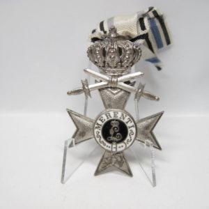 IMG 6446 300x300 - Bayern Militärverdienstkreuz 2. Klassse mit Krone und Schwertern am Band- VERKAUFT- SOLD