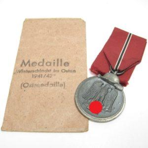 IMG 6460 300x300 - Winterschlachtmedaille 1941/ 42 am langen Band mit Verleihungstüte