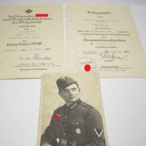 IMG 7922 300x300 - Urkunden Nachlass eine Obergefreiten mit Unterschrift Eichenlaubträger Kurt von der Chevallerie