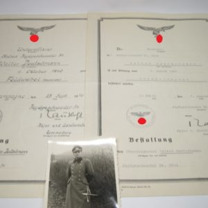 IMG 7972 300x300 - Kleiner Nachlass Bestallung im Jagdgeschwader 54 mit originaler Unterschrift Trautloft