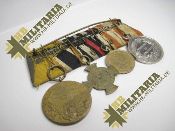 IMG 8120 600x450 - Preussen: Ordensschnalle Medaille Verdienste um den Staat. Erinnerungskreuz Königgrätz, Gefechtsspangen Gravelotte, Paris, Zentarmedaille, Kriegsdenkmünze 1870/71